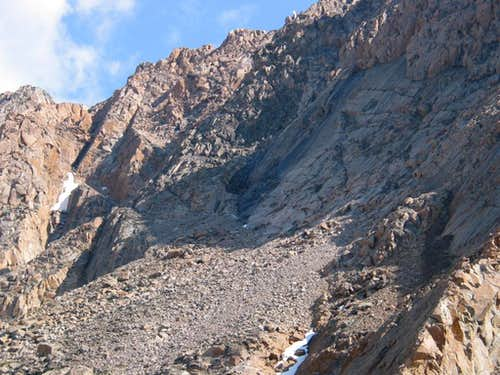 Approach route to SW Couloir