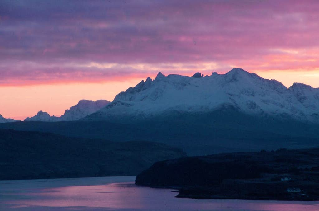 Winter Sunset behind the Northern Cuillin