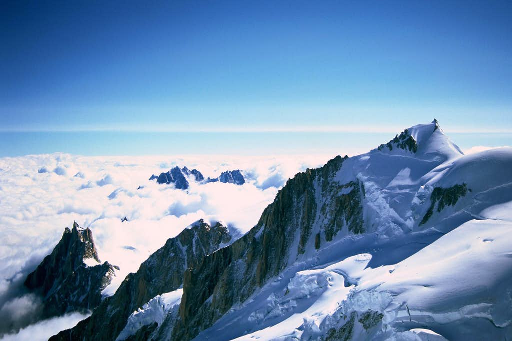 Aig. Du Midi and Mont Maudit