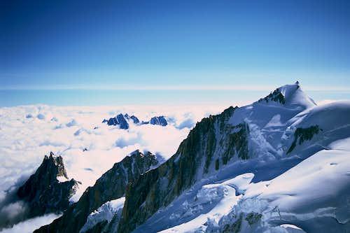 Aig. Du Midi and Mont Maudit