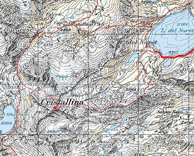 Cristallina map with the two...