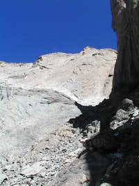 Keplinger's Couloir looking up towards the Notch