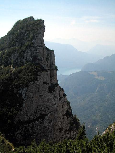 Looking down at the Lago di...