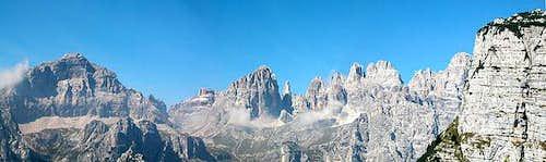 Panorama central Brenta: Doss...