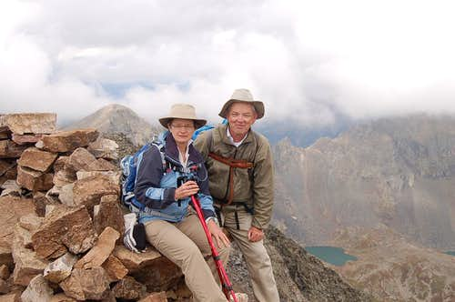 Barbara & Slowbutsteady at Quandary Peak Summit (EL 14.269 FT).