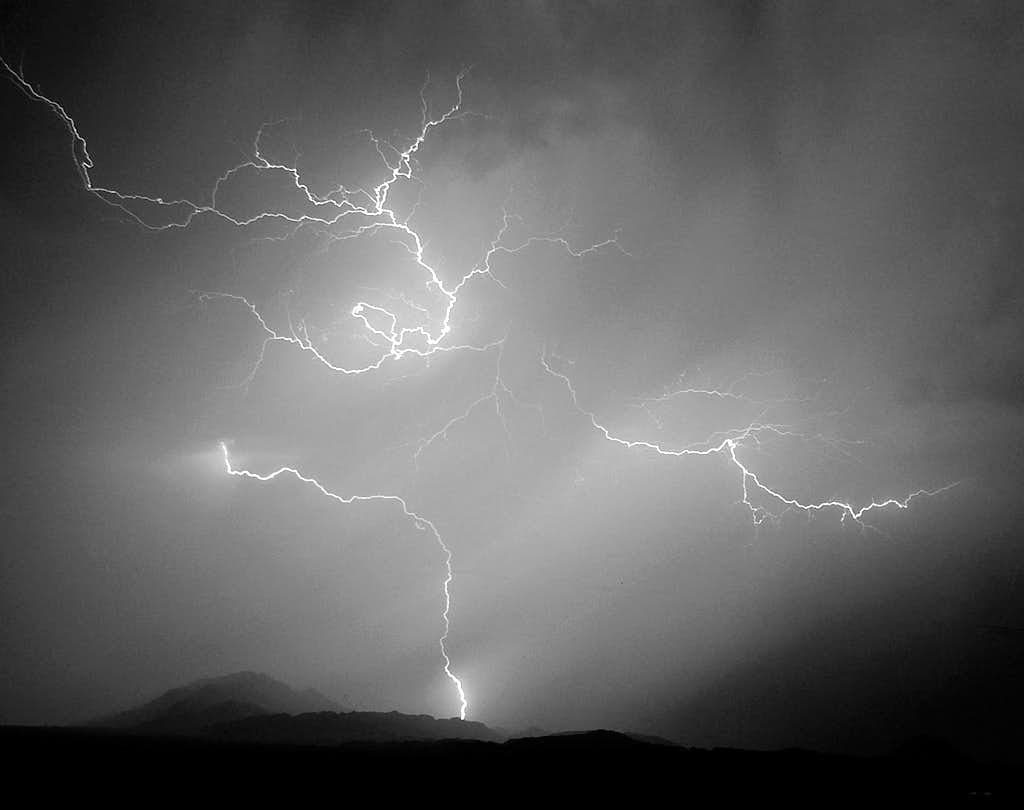 Lightning Strikes Frenchman Mountain
