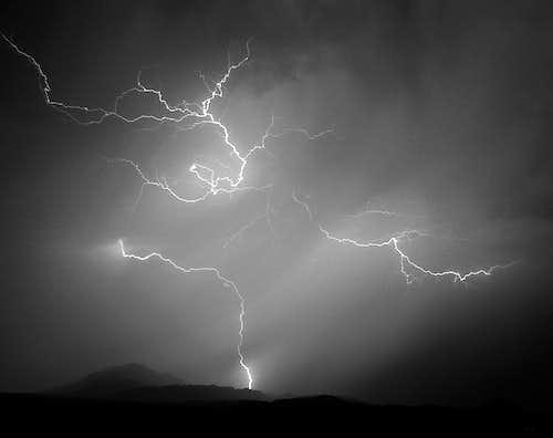 Lightning Strikes Frenchman Mountain