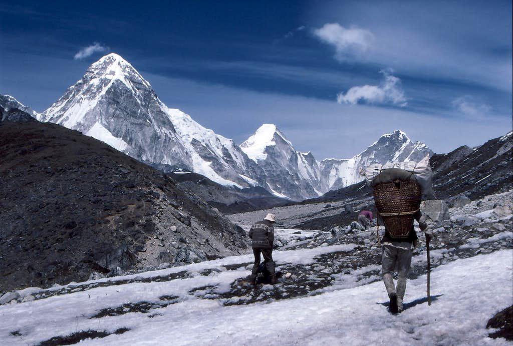 Alongside the Khumbu Glacier