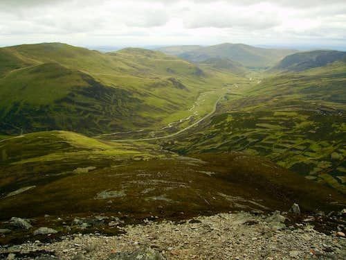 South towards Glen Shee