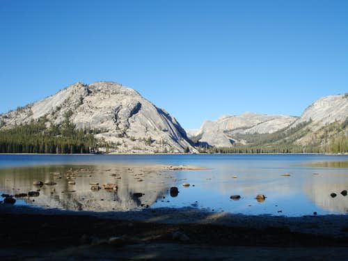 Tenaya Lake in the evening.
