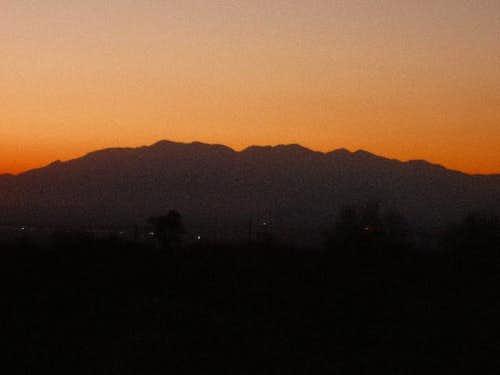 Cucamonga and Baldy Skyline at Sunset
