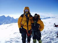 Summit shot with sherpa