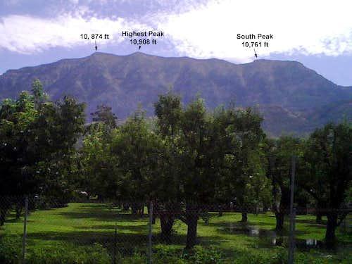South Peak of Cascade Via Big Springs and South Ridge