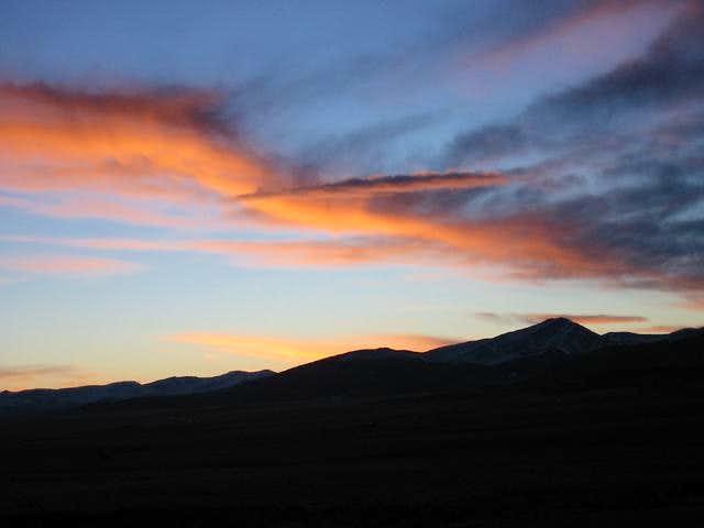 A dark Mount Silverheels (the...