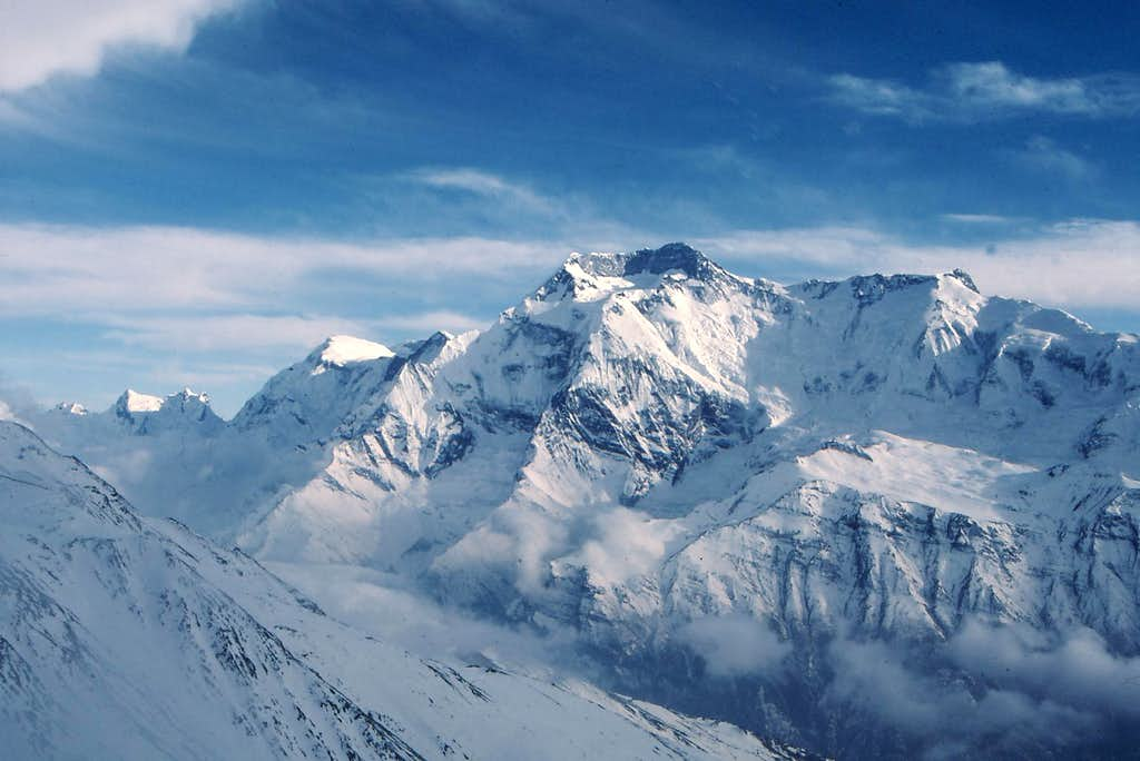 Annapurnas ii and iv from high camp