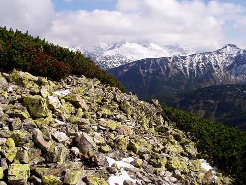 View from the blue trail leading to the top of Mount Giewont.