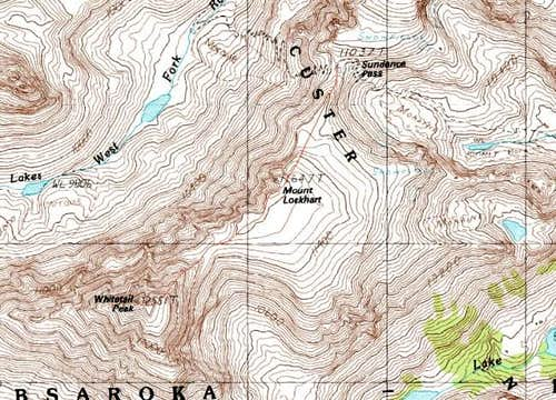 Topographic Map of Whitetail...