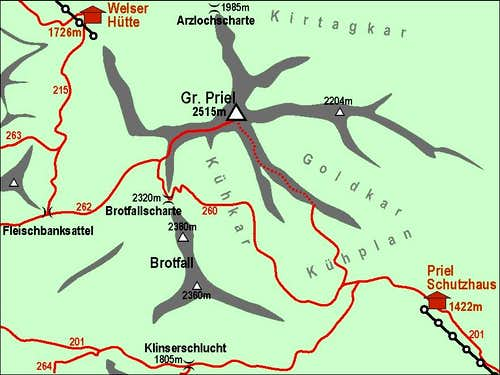 Grosser Priel map