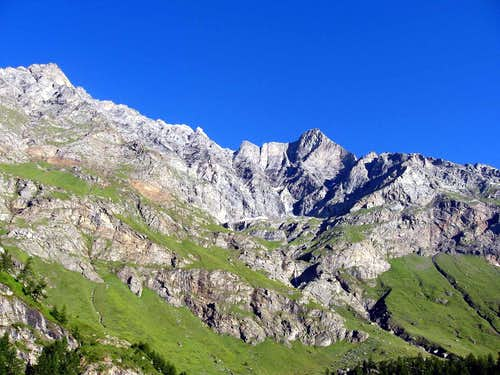 The east flanf above Val di Rhemes.