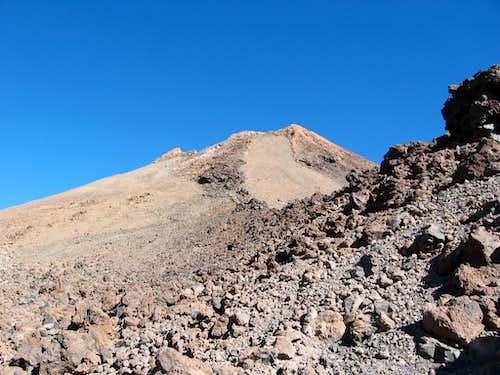 300 feet below summit