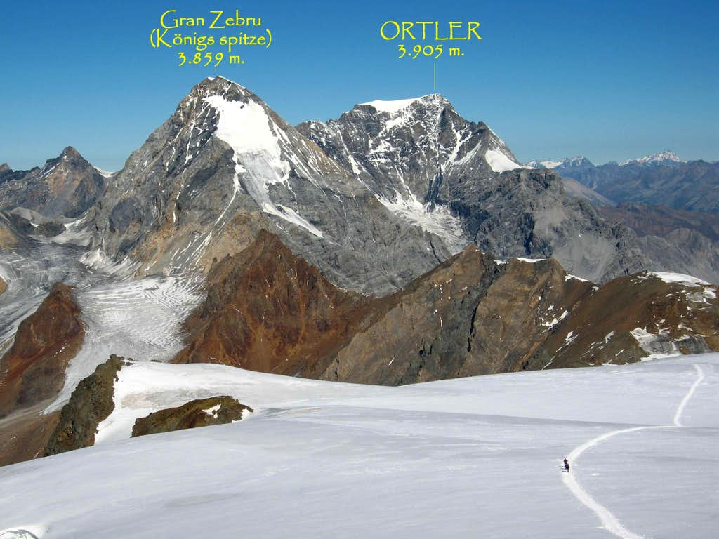 Ortler Seen From Cevedale   Photos  Diagrams  U0026 Topos
