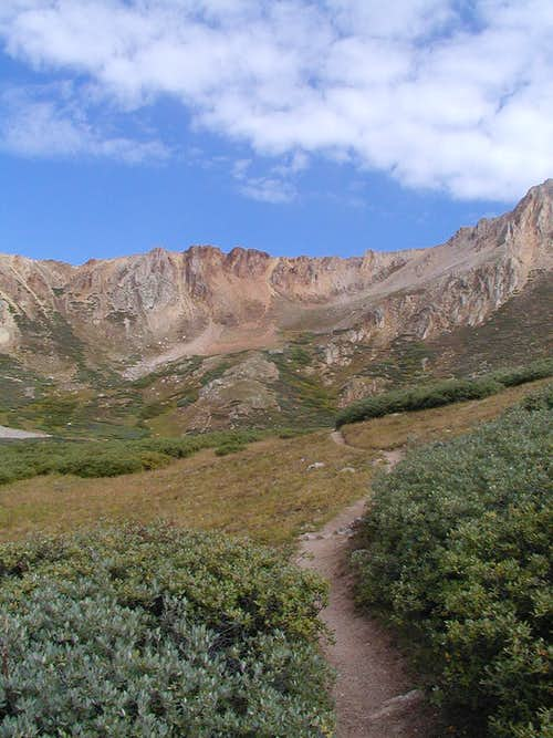 Trail out of basin