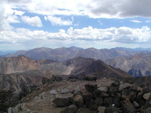 Looking NW from the summit