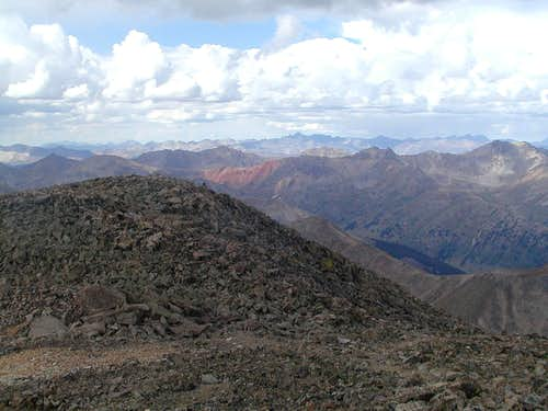 View of the way back down