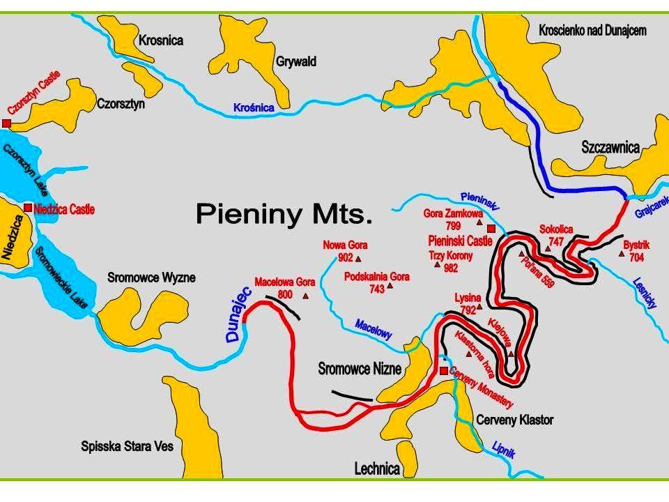 Scheme of the Dunajec...