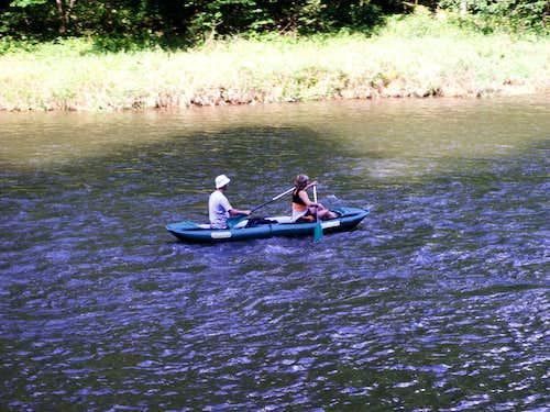 A rafting....