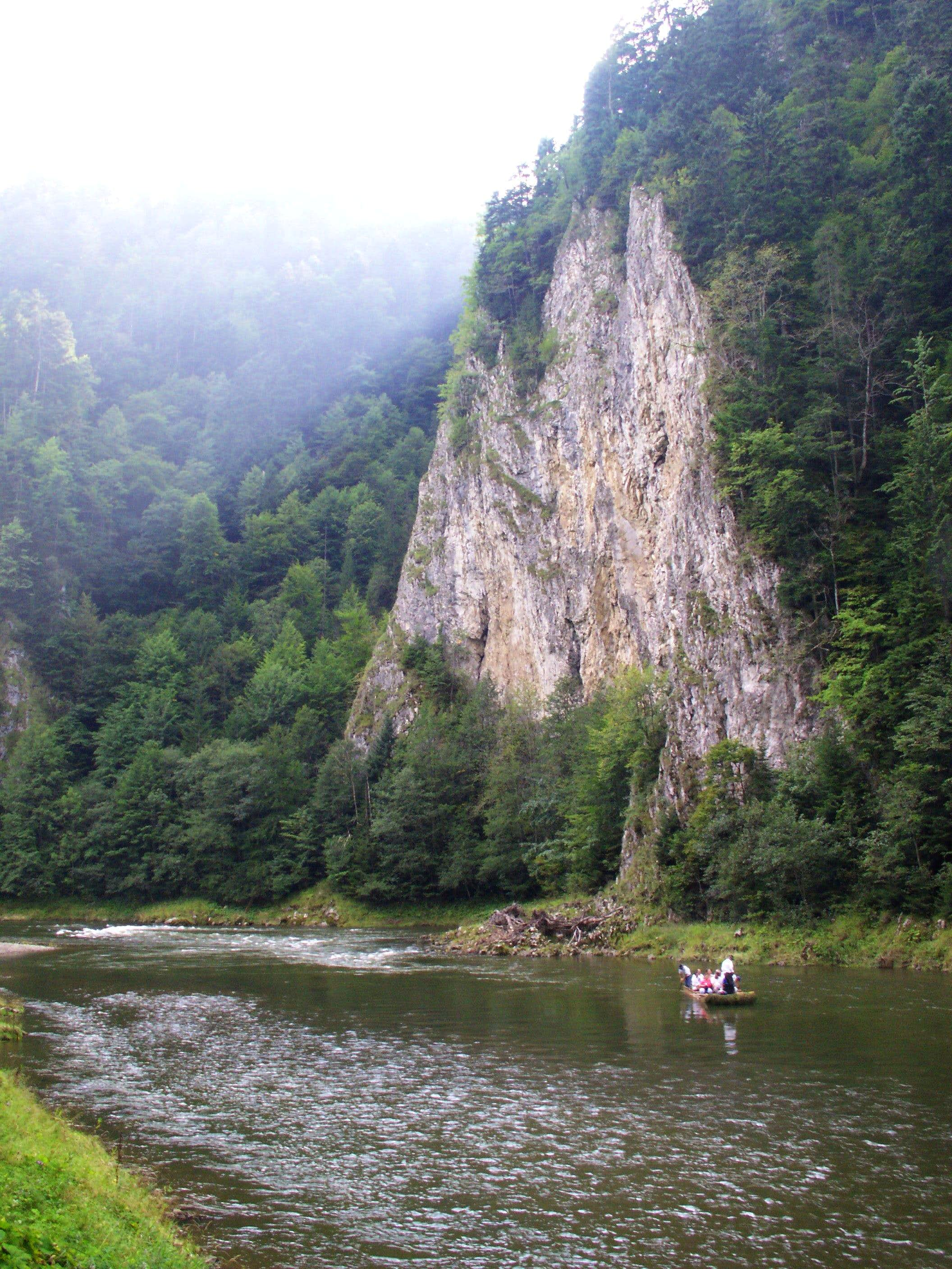 Rafting in the Pieniny Mountains