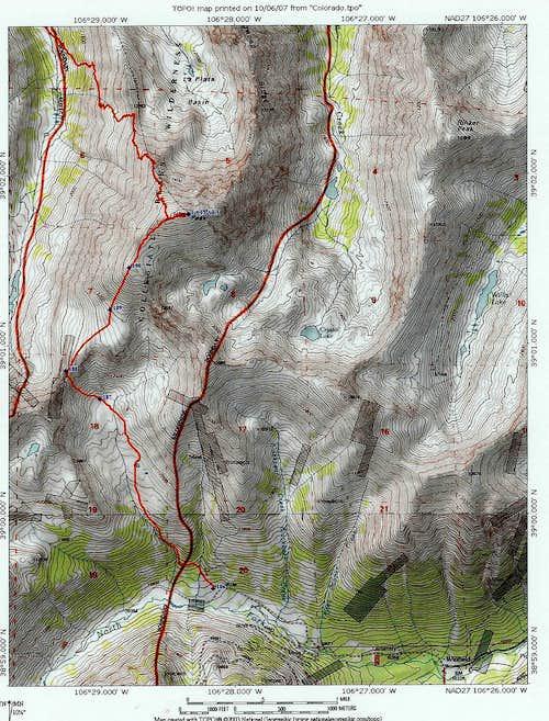 Southwest Ridge topo
