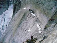 Badile NE wall ledge