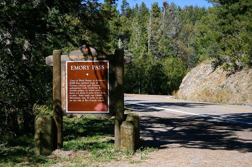 Emory Pass Historic Marker