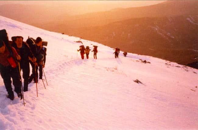 Approaching the mountain hut