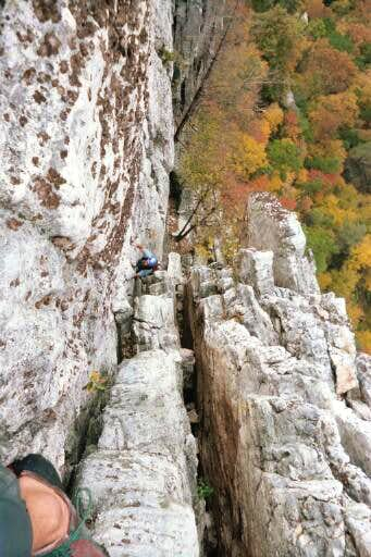 Me climbing and cleaning the...