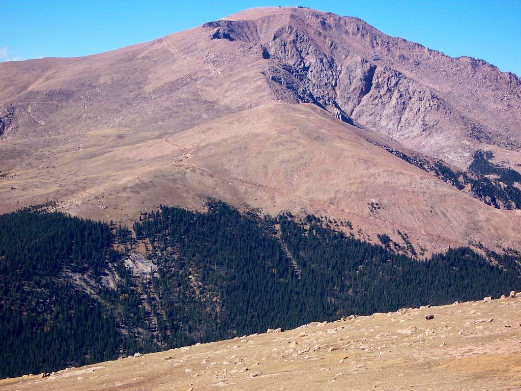 Pikes Peak from Almagre Summit