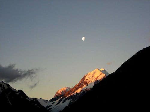 Moon Over Mt. Cook