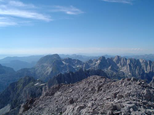 Maja Jezerce summit view