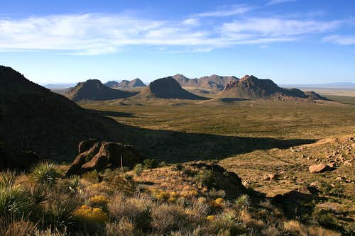 View during ascent of Doña Ana Peak