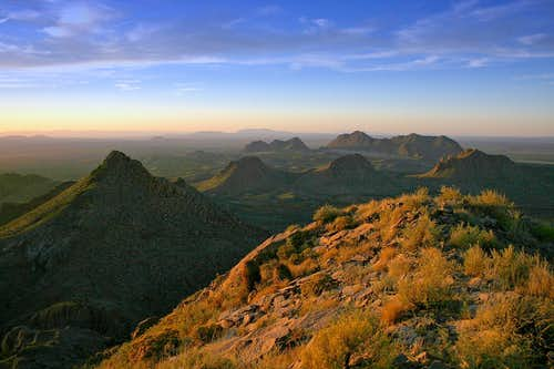 Sunset from the summit of Doña Ana Peak