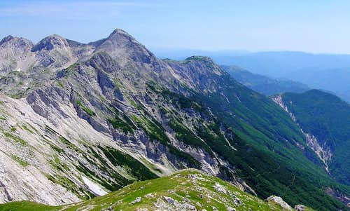 Cicarija as seen from the Eastern Alps