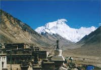 Everest seen from North at...