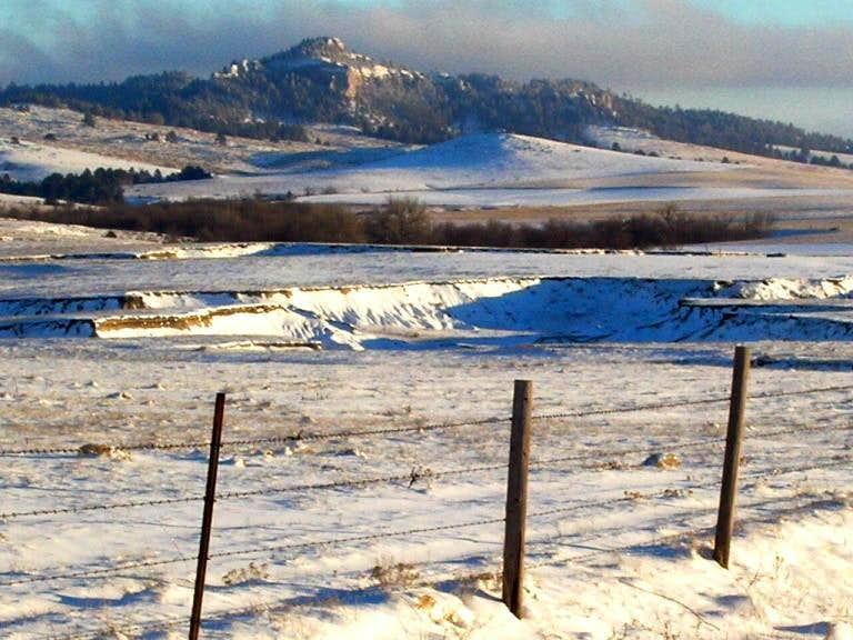 Flannigan Butte In Winter
