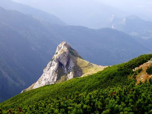 View from the trail leading to the top of Mount Giewont
