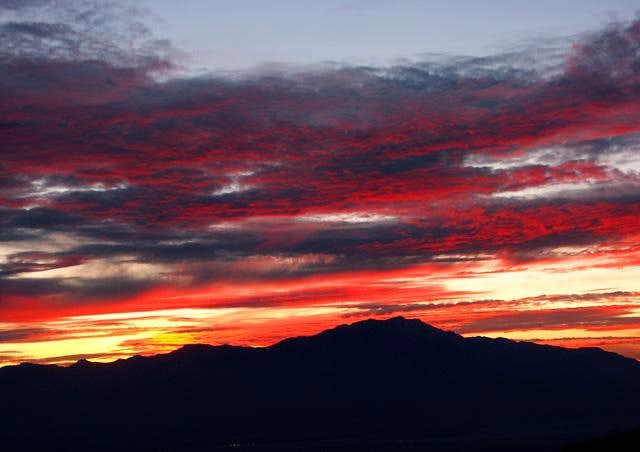 Sunset over San Jacinto from...