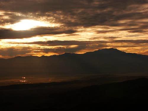 Evening view of San Jacinto...