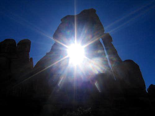 Sunset Through Druid Arch