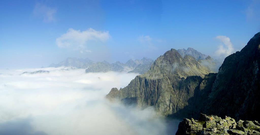 Tatra peaks rising above the clouds