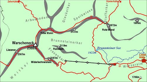 Warscheneck map